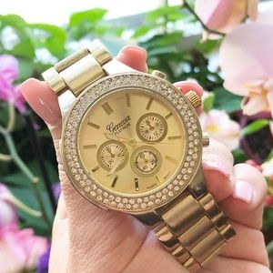 Accessories - Gold Crystal Watch
